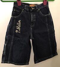 P.Miller Authentics Boys Size 10 Blue Jean Long Shorts