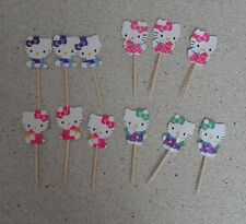 Hello Kitty Cupcake toppers 12 pieces for birthday cake or party decoration