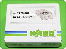 100 WAGO DOSENKLEMME 2 x 2,5  0,5 bis 2,5mm² 2273-202