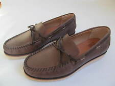 Men's Frye Nathan New Tie Boat Shoe Tan Antiqued Leather $268 Size 10