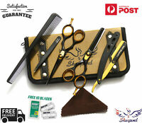 """New Professional Barber Hairdressing Scissors Thinning & Hair Cutting Set 5.5"""""""