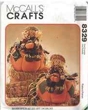 8329 UNCUT McCalls SEWING Pattern Harvest Pumpkin Scarecrow OOP SEW Halloween FF