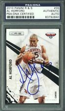 Hawks Al Horford Authentic Signed Card 2010 Panini R&S #35 PSA/DNA Slabbed