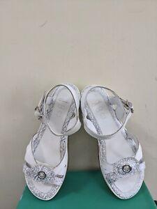Clarks Girl's Glitzy Sun Jnr Leather Fashion Sandals  Size 1.5 NIB
