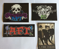 AFI 4 Pack of Stickers Spirits,Skull,Band Photo & Articia NEW Official Rare