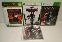 Ninja Gaiden Black / 2 / 3 Lot 3 jeux XBOX 360 PAL Fr Complet + CD Soundtrack