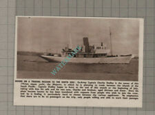 C3350) Captain Charles Dudley Yacht The MAJESTA South Pacific - 1950 Clip