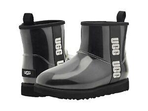 UGG Women's Classic Clear Mini Ankle Boot 1113190 Black Sz 5-12 NEW