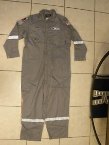 Men's SZ 52 TALL WALLS FR Gray Work Coverall Coveralls Fire Flame Resistant