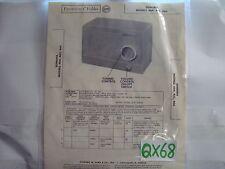 SAMS PHOTOFACT MANUAL & SCHEMATIC RADIO TUBE SONORA MODEL 464, 465, 466