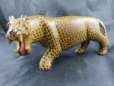 Alte Gepard Holz Figur Afrika Cheetah wood figure Hand carved