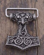 Gürtelschnalle - Thorshammer - Mjoelnar  Wikinger Thor Odin Silber 1600094160