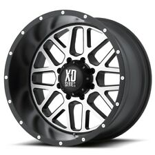 20 Inch Black Silver Wheel Rims Ford F250 F350 XD Grenade XD82021087524N 20x10