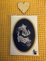 Vintage Belgium Lace Cats picture Card