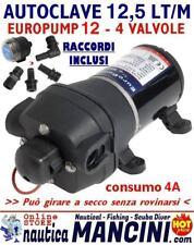 AUTOCLAVE EUROPUMP 12 12V 12,5 LT/M POMPA OSCULATI BARCA DOCCIA DOCCETTA CAMPER