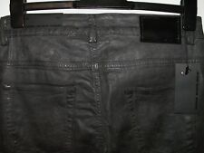Diesel black gold type 247 skinny fit coated leather effect jeans W30 L30 a3274