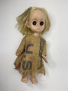 Vintage Little Miss No Name Hasbro 1965 W/ Tear Drop Replacement Dress No Undies