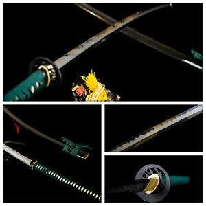 japanese nodachi katana clay tempered t10 steel blade with hazuya polished sword