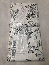 Set of 2 SPLIT P Madison Floral Lined Hidden Tab Panel Curtain Drapery 50 X 96