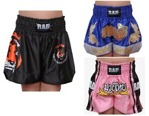 Kids Muay Thai Fighting Shorts MMA Kick Boxing Martial Arts Shorts Boys Girls