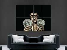 SCARFACE  MONEY POSTER AL PACINO CLASSIC MOVIE WALL ART PRINT  TONY MONTANA