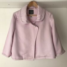 Cynthia Rowley Womens Pink Silk & Wool Career Crop Blazer, AU Size 10