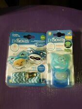Dr. Brown's Pacifiers Glow In Dark 6-12m  And Pacifiers With Clip 0-6 m