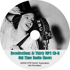 Recollections At Thirty Otr Vieux Time Radio Montre MP3 Cd-R 41 Episodes