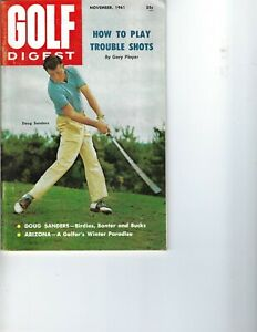 1961 NOV Golf Digest magazine Doug Sanders, Birdies, Banter and Bucks VG