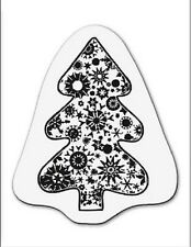 cArt-Us Clear Acrylic  stamp SMALL CHRISTMAS TREE WITH CRYSTALS - 001883/1092