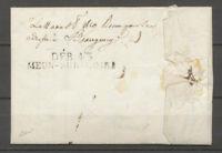1819 Lettre marque déboursé DEB 43/MEUN-SUR-LOIRE 50*8 LOIRET X3984