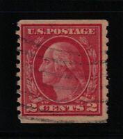 1915 Sc 454 rotary press coil used perf 10 vert.  CV $22.50