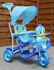 Kinder Dreirad-Schaukelsitz 2 In 1 Ente Kinderwagen - Blau