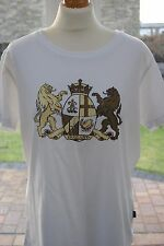 Canterbury Womens England Rugby Coat Of Arms T-Shirt White. Size 18. New.