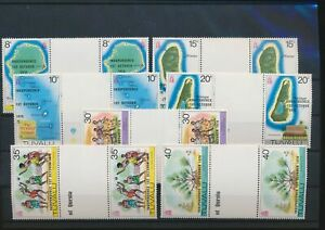 LN71976 Tuvalu folklore independence gutter pairs MNH
