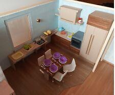 A miniature kitchen set