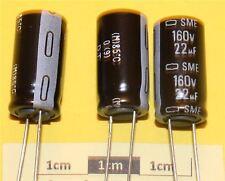 Nippon Chemi-Con Condensatore elettrolitico radiale delle PMI 22µF 160V 85 ° C (pacco da 5)