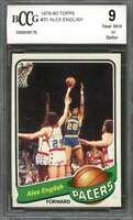 1979-80 topps #31 ALEX ENGLISH indiana pacers rookie card BGS BCCG 9