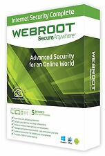 Webroot SecureAnywhere Internet Security 1 Anno 5 PC Windows / Mac Key Digital