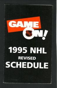 NHL--1995 Revised Pocket Schedule--Sprint