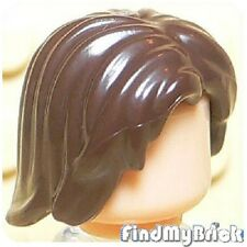 G032A Lego Aragorn Winter Soldier Mid-Length Tousled Hair - Dark Brown 9472 NEW