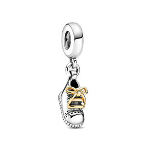 Pandora Baby Shoe Dangle Charms Jewelry 925 Sterling Silver