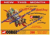 Corgi Toys 266 Chitty Chitty Bang Bang Poster Leaflet Advert Shop Display Sign