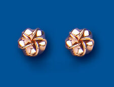 Flower Earrings Knot Studs Rose Gold Knot Stud Earrings 7mm