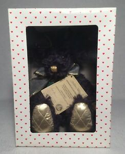 "1997 Hermann ""Golden Blue"" Annual Mohair Bear 14"" With Box"