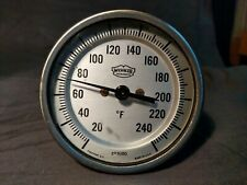 """New listing Vintage Weksler Thermometer - Works - (Guc) 3"""" Round Freeport Ny w/ cover"""