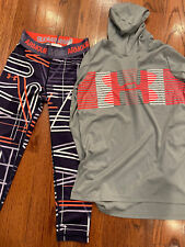 Girls Youth Under Armour Leggings Size M and Long Sleeve Top Size L EUC