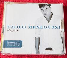 PAOLO MENEGUZZI CD singolo MUSICA - SANREMO FESTIVAL