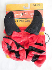 NWT Pet Dog Halloween Devil Demon Plush Costume XS, S, M Dogs