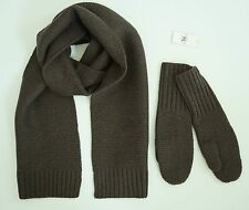 NWOT RALPH LAUREN RRL DOUBLE RL 100% WOOL Knitted Long SCARF + MITTENS